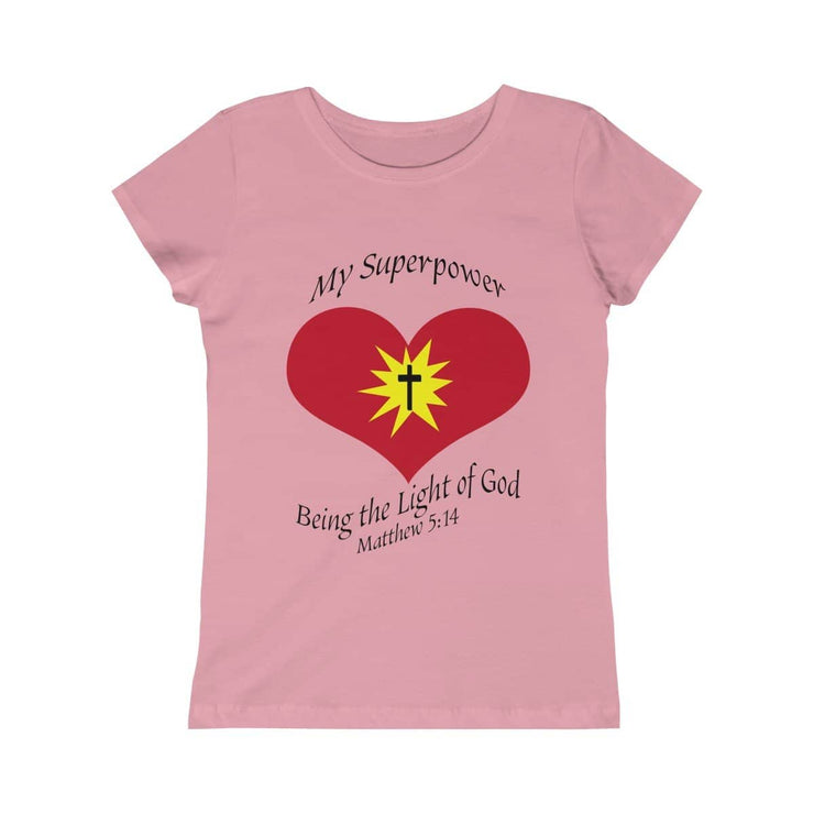 "Girls Princess Tee ""My superpower"" in 5 colors and 5 Sizes (4334316257374)"