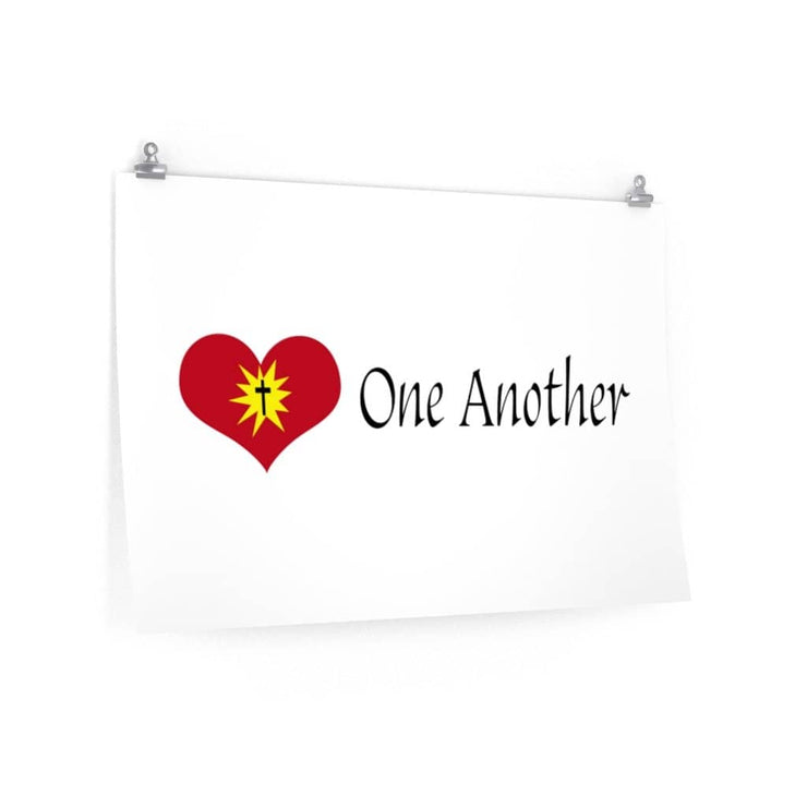 "Premium Matte Poster ""Love One Another"" (4493366886494)"