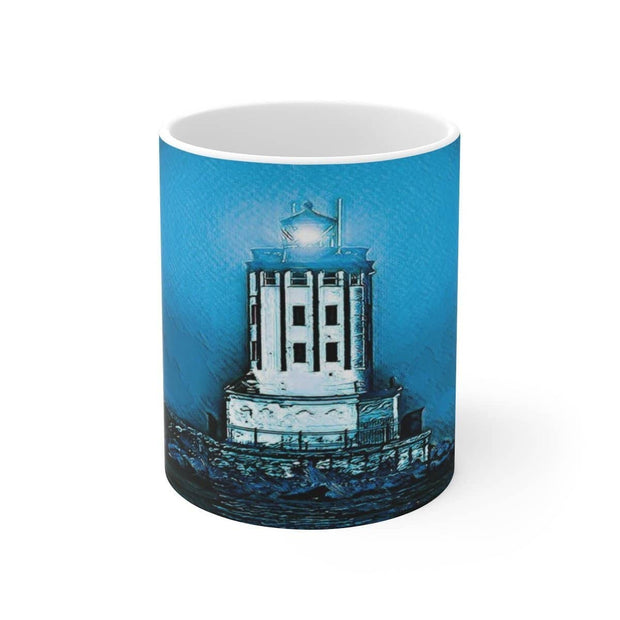 White Ceramic Mug Angels Gate Lighthouse 110z or 15oz Mug