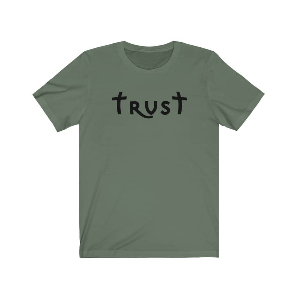 "Bella & Canvas Short Sleeve Tee ""Trust"" black font (4770787754078)"