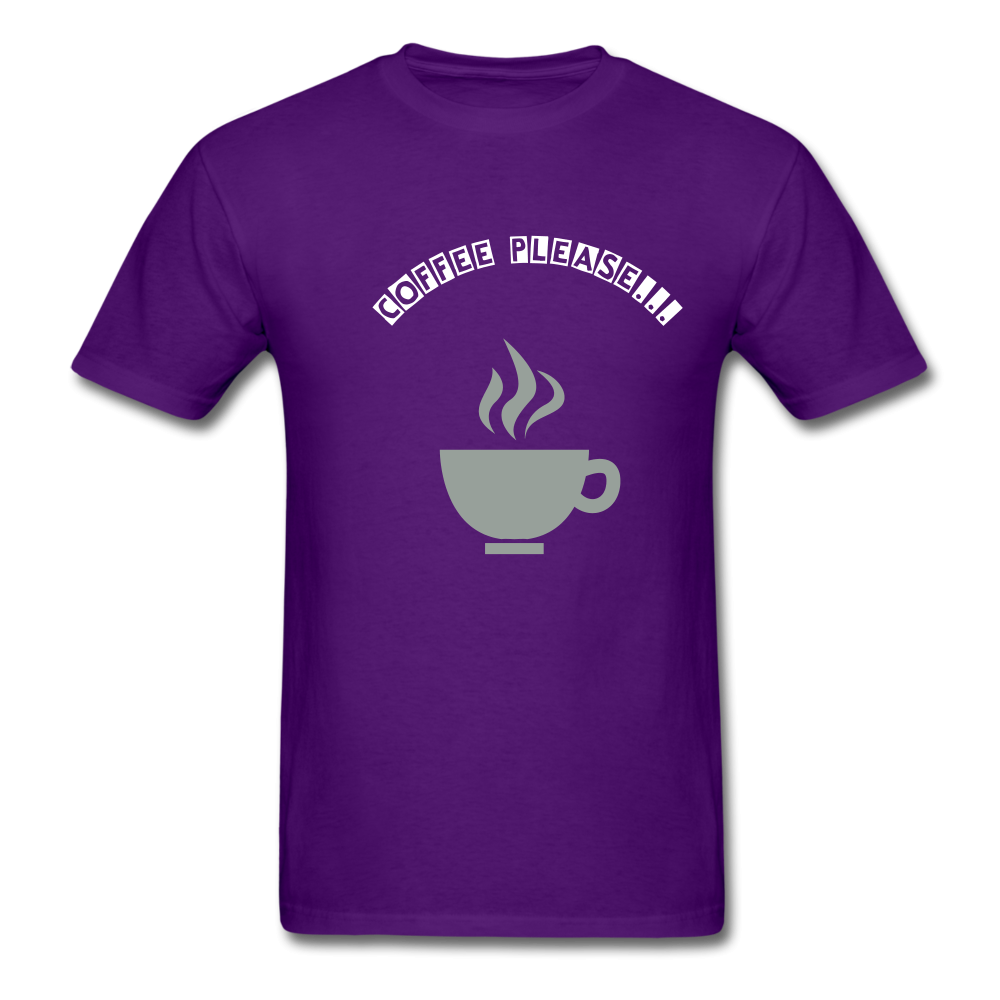 Coffee Please T-Shirt in 8 colors and 9 sizes S-6XL Mens T-Shirt (2445945438308)