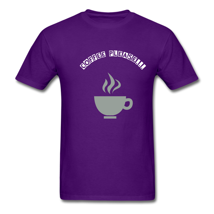 Coffee Please T-Shirt in 8 colors and 9 sizes S-6XL Mens T-Shirt