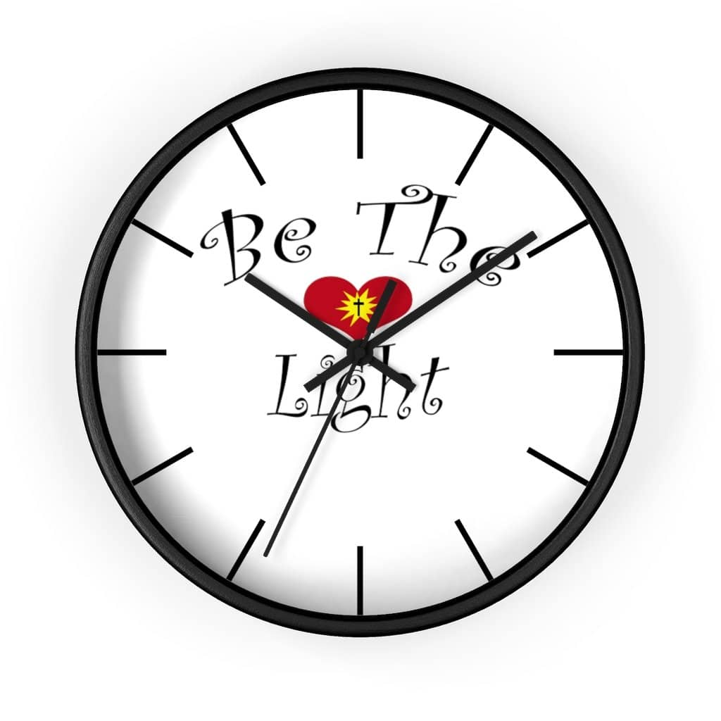 "Wall Clock ""Be the Light"" 6 Variations (4308680212574)"