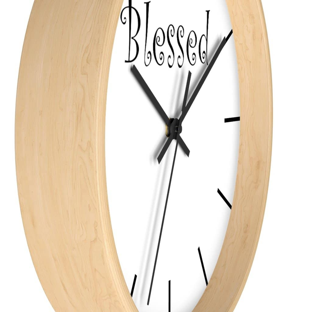 "Wall Clock ""Blessed"" (3471057551460)"