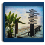 Canvas Print Beach Sign Square Royal / 8 x 8 Canvas Print