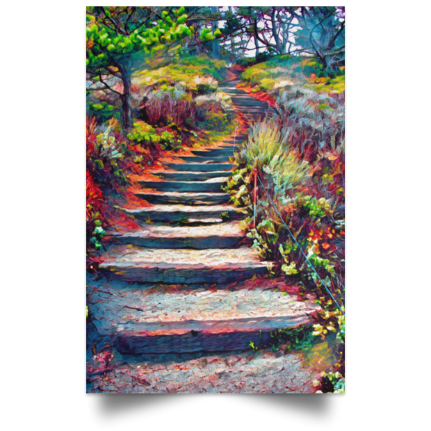 "Satin Poster ""Stairway to Heaven"""