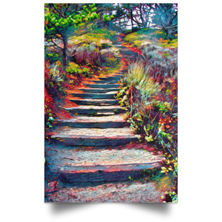 Satin Poster Stairway to Heaven White / 12 x 18 Poster