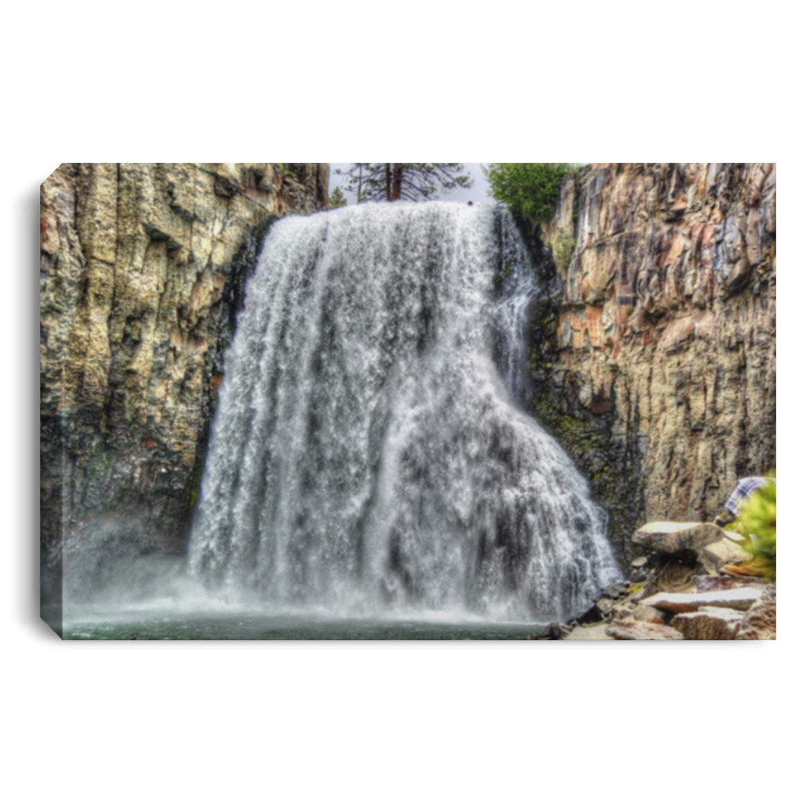 Canvas Print Rainbow Falls 7 White / 12 x 8 Canvas Print (2819480649828)