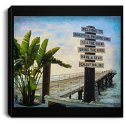 Canvas Print Beach Sign Square Canvas Print (1917667410020)