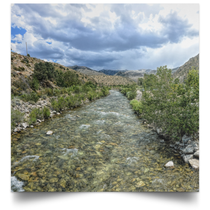 Satin Poster Square West Walker River White / 16 x 16 Poster