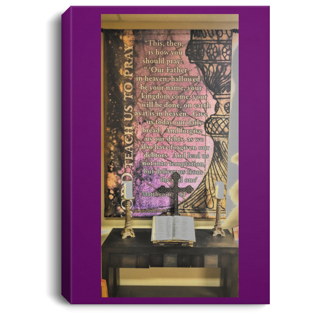 Canvas Print The Lords Prayer Purple / 8 x 12 Canvas Print (2150908428388)