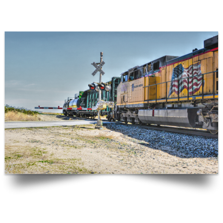 Satin Poster Union Pacific White / 18 x 12 Poster (3053894533220)