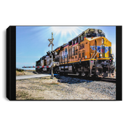 Canvas Print Portrait of a Train Black / 12 x 8 Canvas Print (1891545415780)