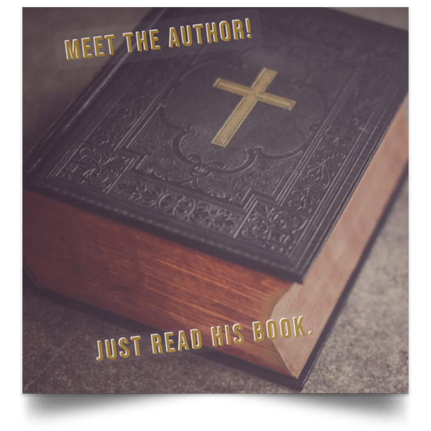 "Satin Poster Square ""Meet the Author 1"""