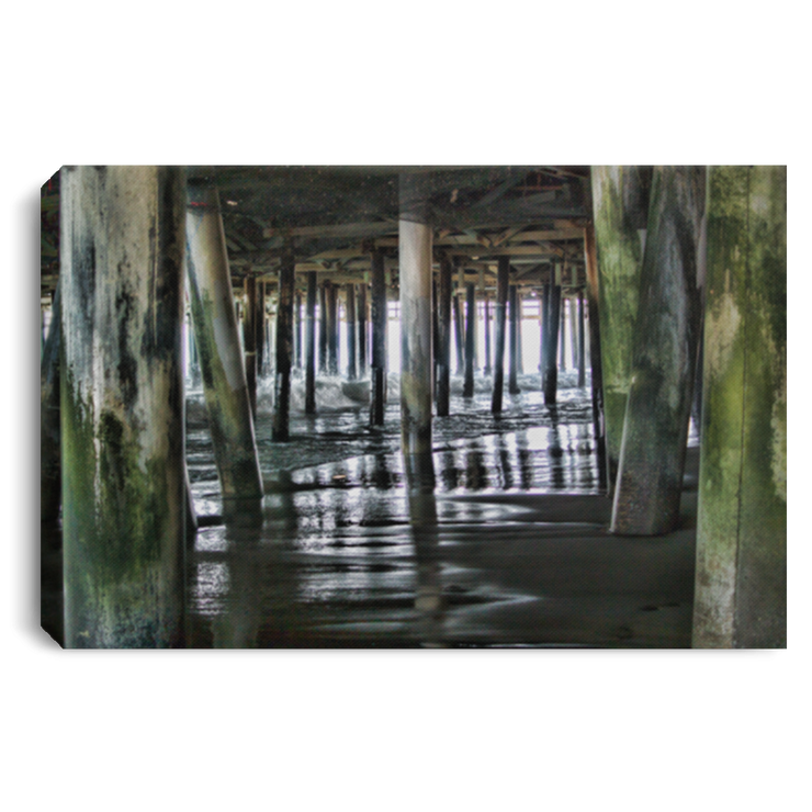 Canvas Print Under the Pier 1 White / 12 x 8 Canvas Print