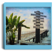 "Canvas Print ""Beach Sign Square"""