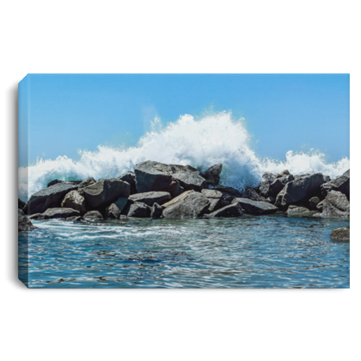 Canvas Print Breakwater White / 12 x 8 Canvas Print (2377834037348)