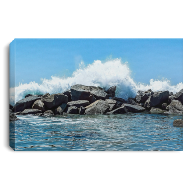 Canvas Print Breakwater White / 12 x 8 Canvas Print