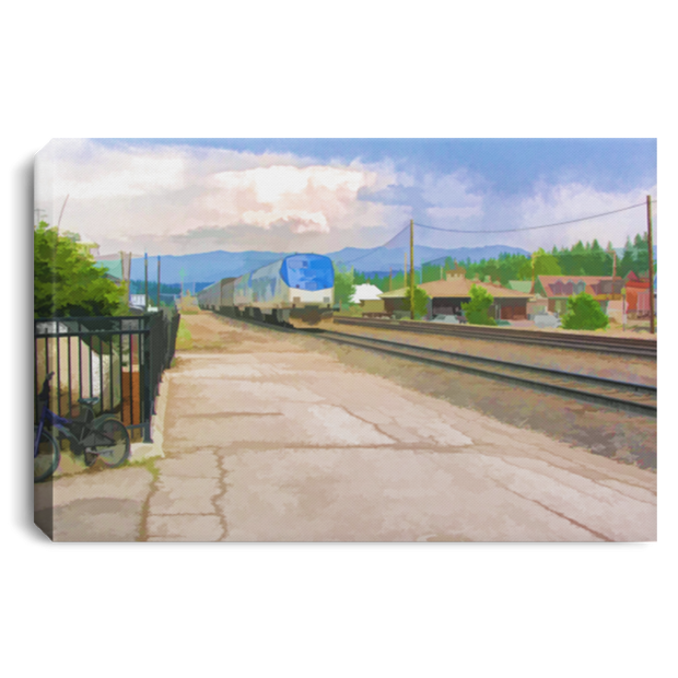 Canvas Print Train Station White / 12 x 8 Canvas Print