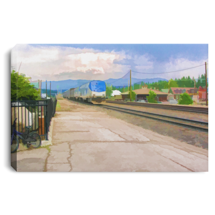 "Canvas Print ""Train Station"""