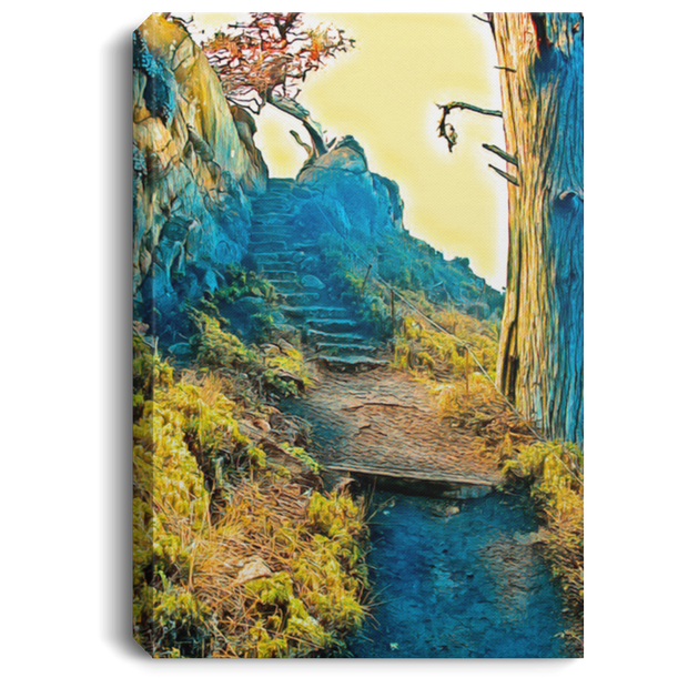 Canvas Print Stairway to the Sky White / 8 x 12 Canvas Print