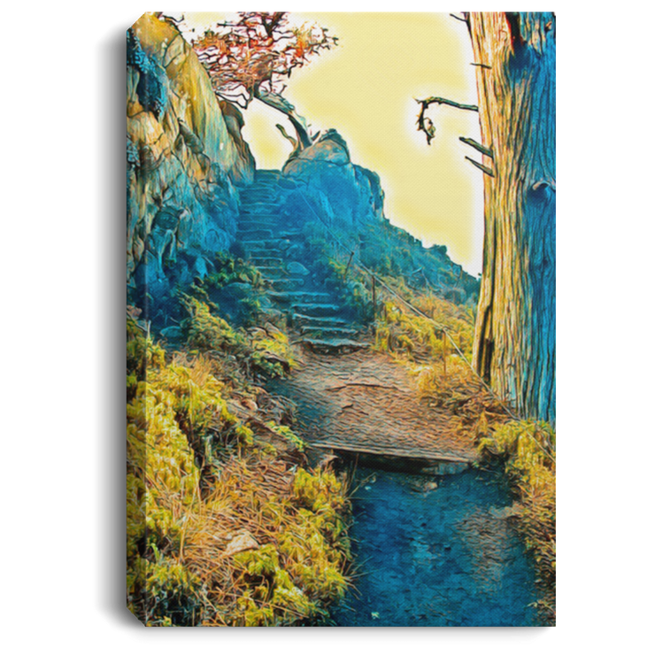 Canvas Print Stairway to the Sky White / 8 x 12 Canvas Print (2151576010852)