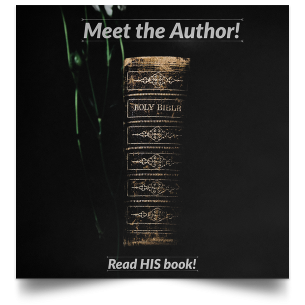 "Satin Poster Square ""Meet the Author 2"""