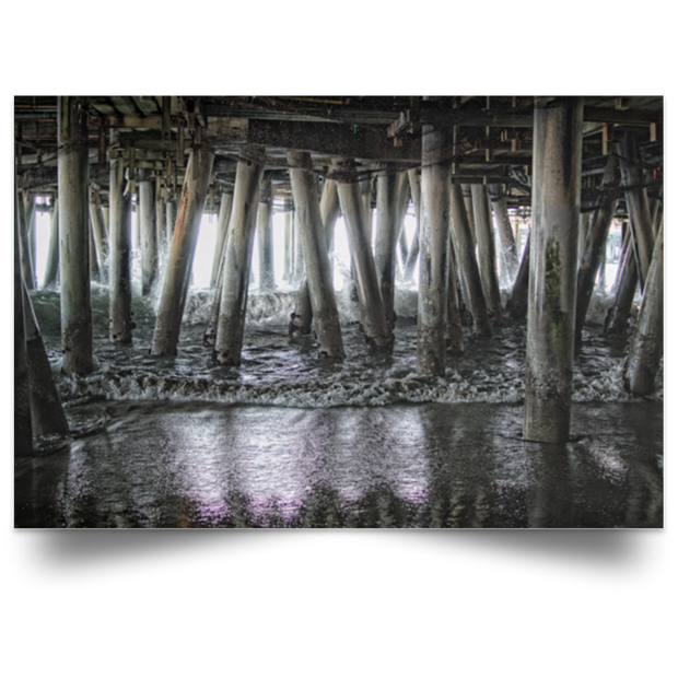 Satin Poster Under the Pier 2 White / 18 x 12 Poster (2808659411044)