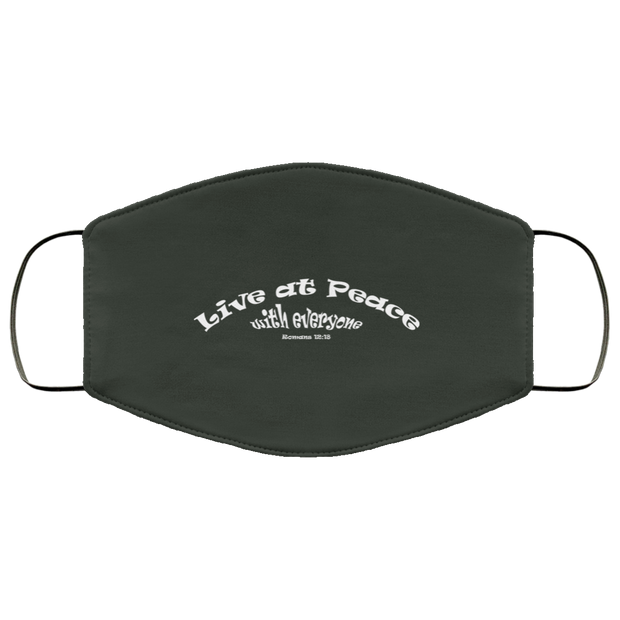 "FMA Face Mask  ""Live at Peace"" i (4662358704222)"