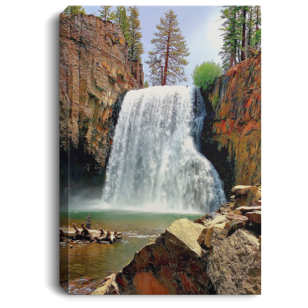 Canvas Print Portrait Rainbow Falls 17 White / 8 x 12 Canvas Print (1958042304612)