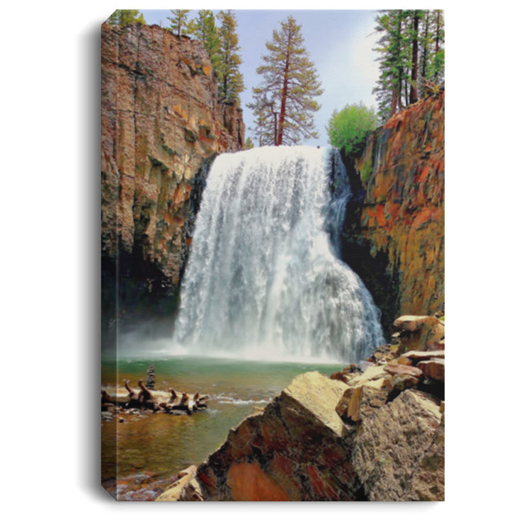 Canvas Print Portrait Rainbow Falls 17 White / 8 x 12 Canvas Print