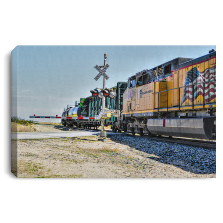 Canvas Print Union Pacific White / 12 x 8 Canvas Print