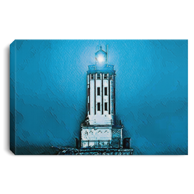 "Canvas Print ""Angels Gate Lighthouse""  (Dark theme)"