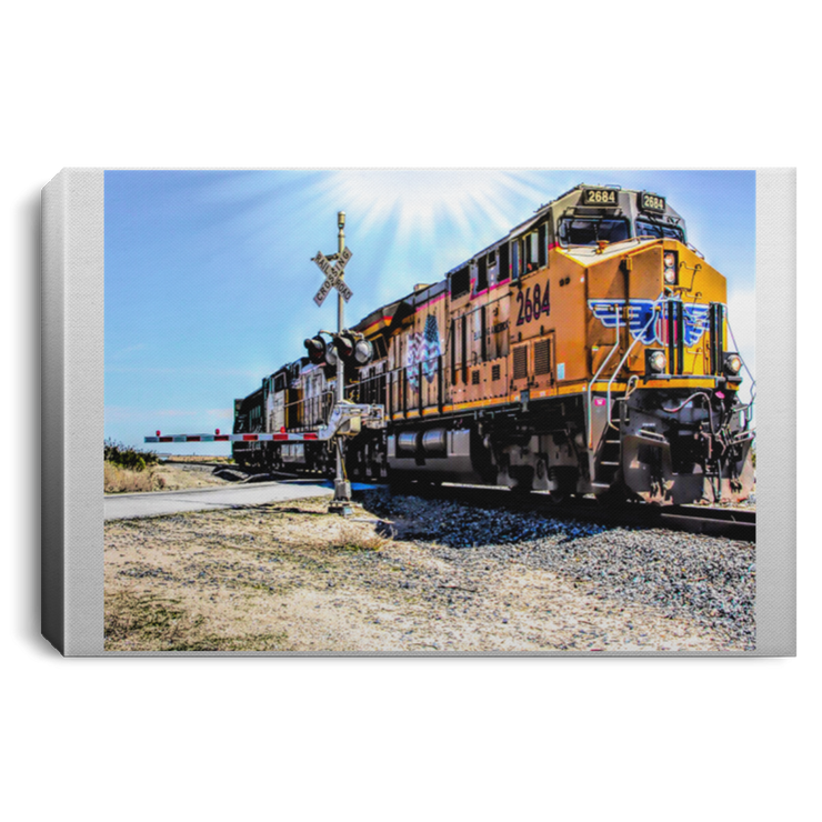 Canvas Print Portrait of a Train Canvas Print