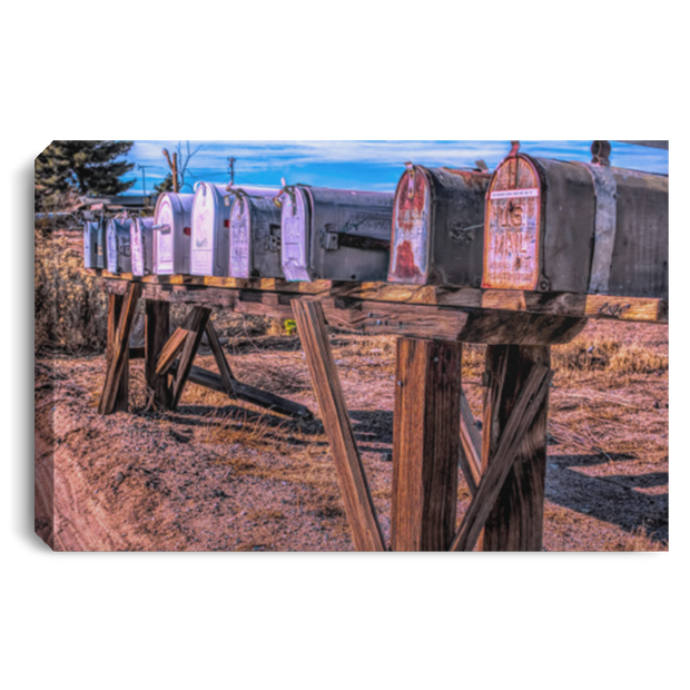 Canvas Print Mailboxes White / 12 x 8 Canvas Print (3054040907876)