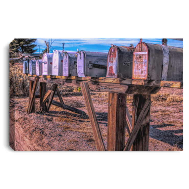 Canvas Print Mailboxes White / 12 x 8 Canvas Print