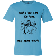 3001C Bella + Canvas T-Shirt Bless This Workout 9 Colors/8 sizes Turquoise / X-Small T-Shirts (2953788227684)
