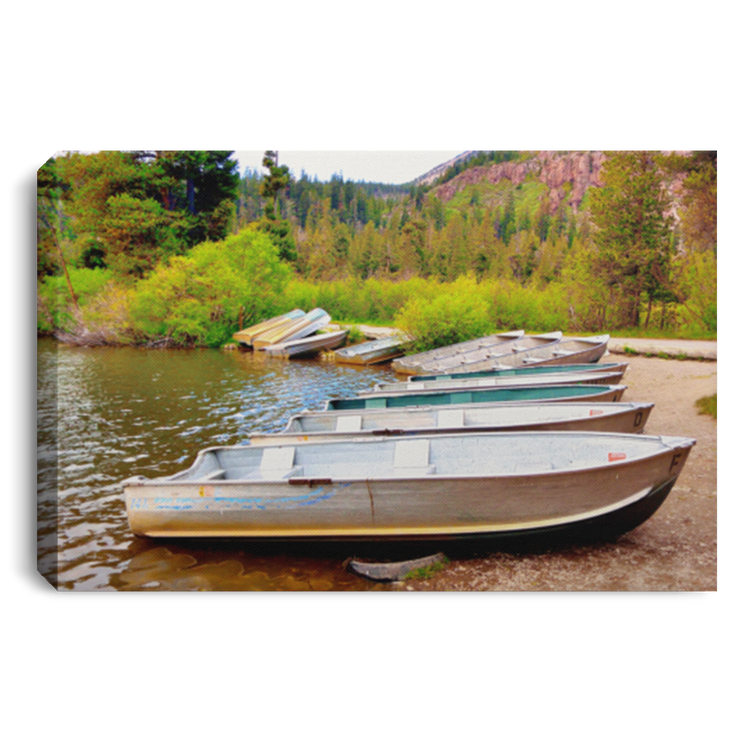Canvas Print The Fishing Boats White / 12 x 8 Canvas Print (1999054078052)
