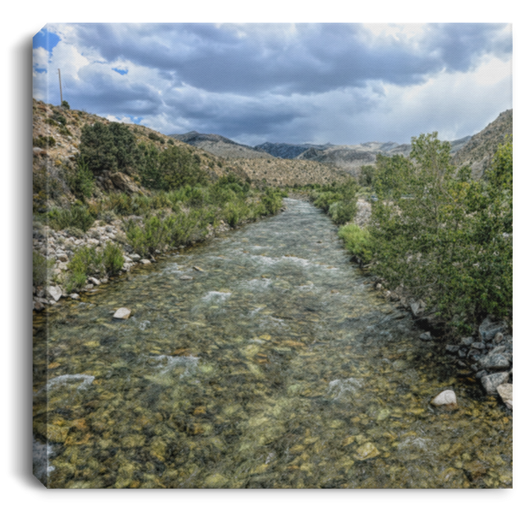 Canvas Print Square West Walker River White / 8 x 8 Canvas Print