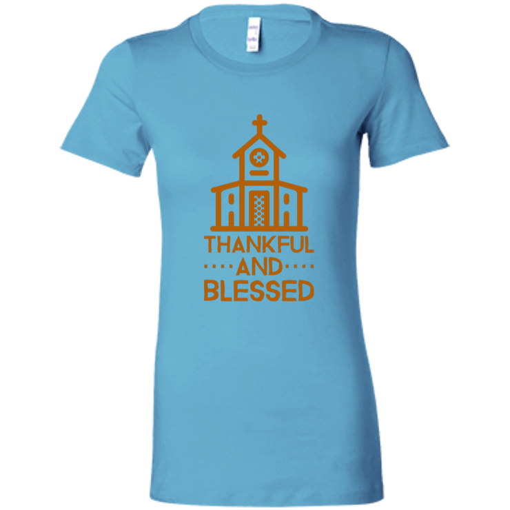 6004 Bella + Canvas Ladies Favorite T-Shirt Thankful and Blessed 10 Colors 5 Sizes T-Shirts