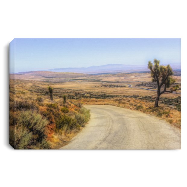 Canvas Print Desert Road White / 12 x 8 Canvas Print