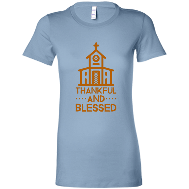 6004 Bella + Canvas Ladies Favorite T-Shirt Thankful and Blessed 10 Colors 5 Sizes Baby Blue / S T-Shirts