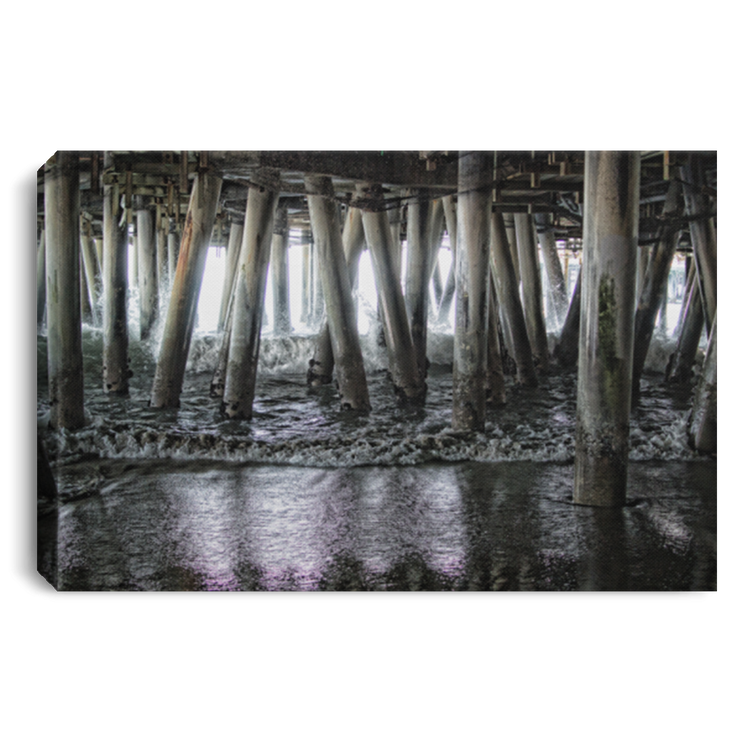 Canvas Print Under the Pier 2 White / 12 x 8 Canvas Print