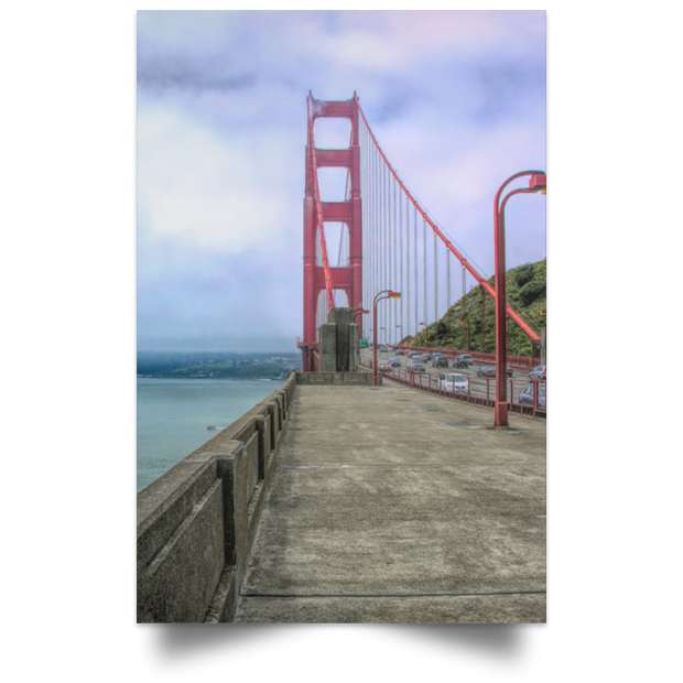 Satin Poster Portrait of a Bridge White / 12 x 18 Poster