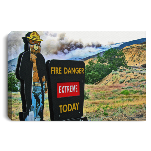 Canvas Print Fire Danger White / 12 x 8 Canvas Print (2051003842660)