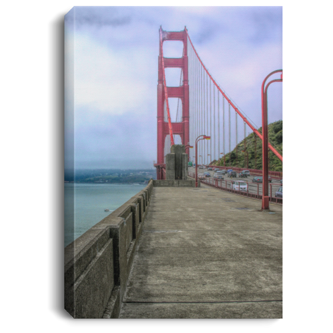 Canvas Print Portrait of a Bridge White / 8 x 12 Canvas Print (2309070159972)