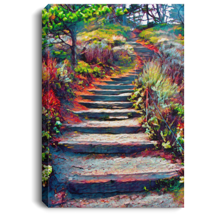 Canvas Print Stairway to Heaven White / 8 x 12 Canvas Print