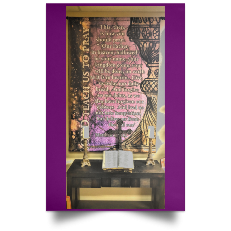 Satin Poster The Lords Prayer Purple / 12 x 18 Poster (2150909509732)