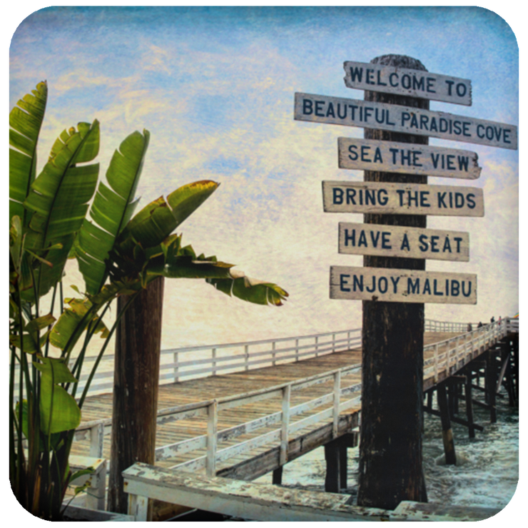 Coaster Beach Sign White / One Size POD