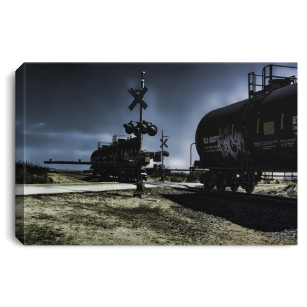 Canvas Print Ghost Train at Night White / 12 x 8 Canvas Print